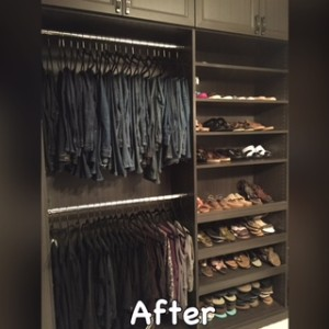 """Denim bar"", other pants, and shoe wall."