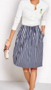 Graphic summer skirt.